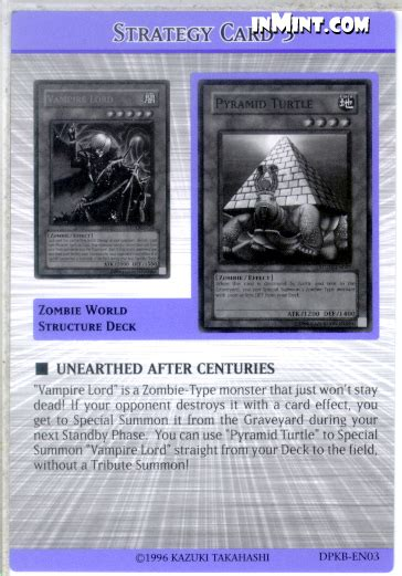 Pyramid Turtle Common inmint yugioh common card singles strategy card unearthed after centuries 3 of 8 tip