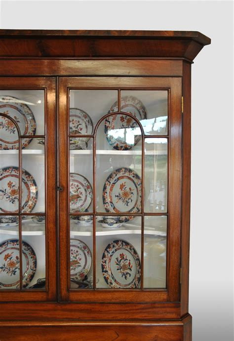 Corner Display Cabinet With Glass Doors Corner Display Cabinet With The Original Glass In The Doors Mahogany Artlistings