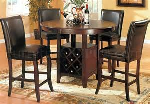 dark cherry finish contemporary dinette w wine rack base table dining table wine rack dining table