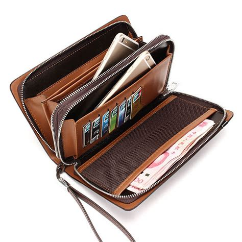 Fossil Multi Brown Zip Wallet Dompet Wanita Original W233 sale business pu leather portable bag zipper