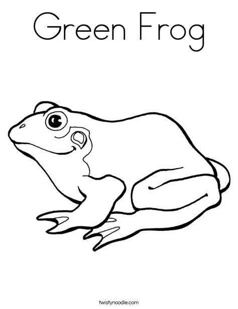 Green Coloring Pages green frog coloring page twisty noodle