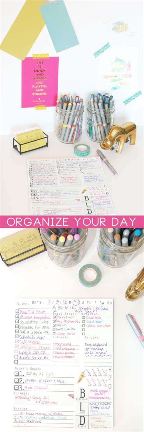 Organize Day | make the most of each day thyme is honey