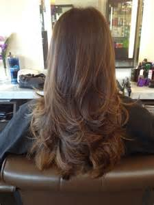 back of hairstyle cut with layers and ushape cut in back cabelo liso repicado cortes modernos fotos