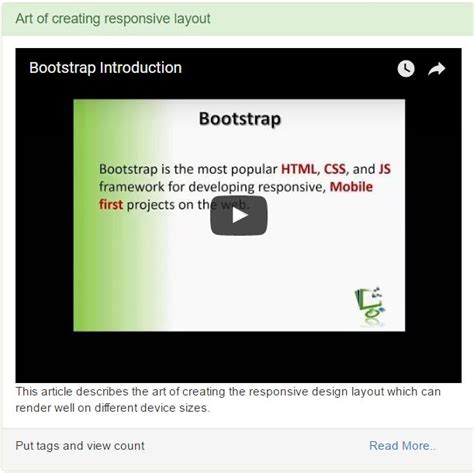 bootstrap tutorial codeproject creating responsive website using bootstrap codeproject