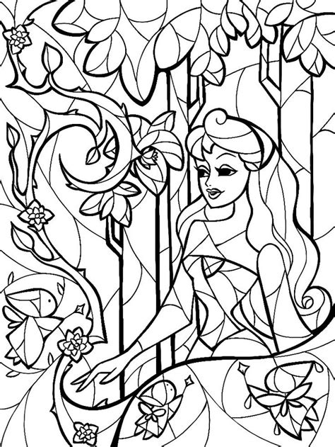 glass sheet for stained glass sleeping beauty coloring sheet by mandie