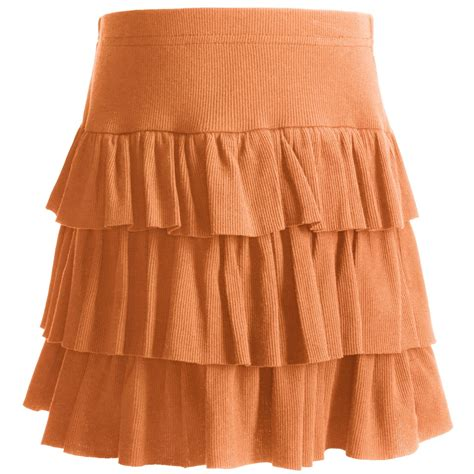 Ruffled Skirt roper tiered ruffle mini skirt for in orange