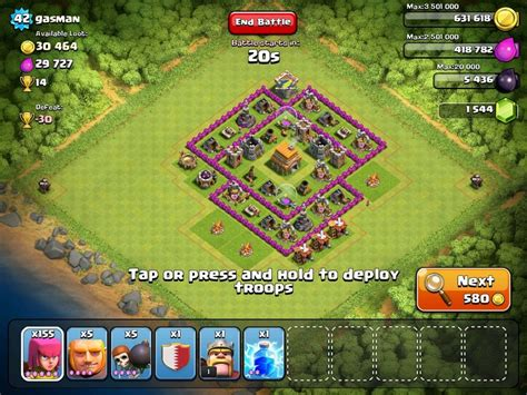 offensive layout in coc best defence for clash of clan town hall level 6 game