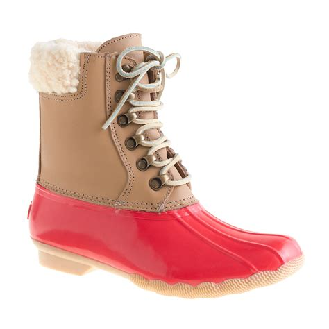sperry boots for sperry top sider 174 for j crew leather shearwater boots