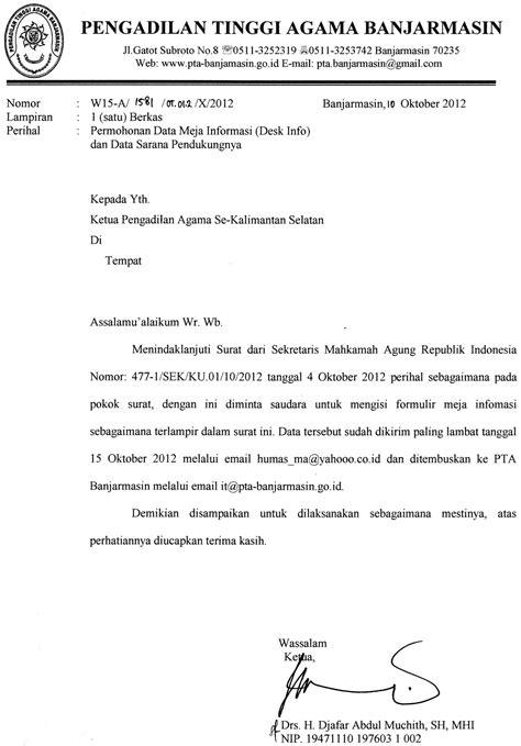 Contoh Surat Permohonan Permintaan Salinan Putusan