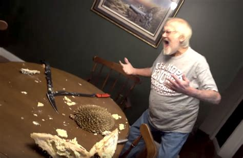 angry american granddad reacts violently