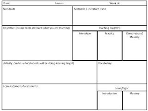common lesson plan template high school 17 best ideas about lesson plan templates on