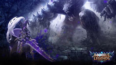 wallpaper hd mobile legends freya monster hunter desktopwallpaper mobile legen by
