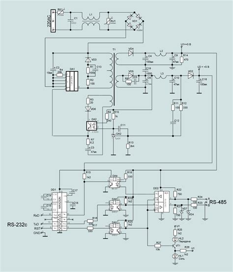 rs232 to rs485 converter circuit diagram standard rs 485