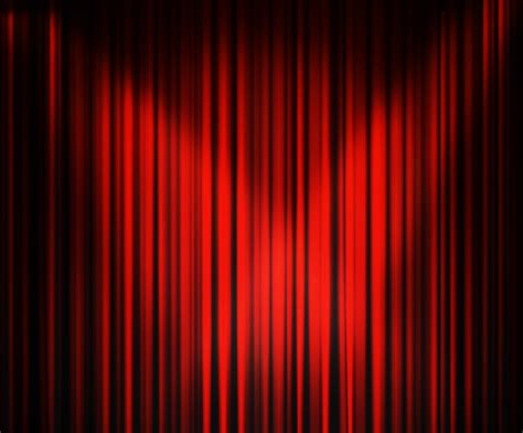 red curtain red curtains stage