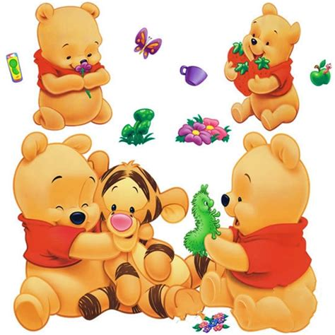 Care Bear Wall Stickers cartoon animals pooh diy vinyl wall stickers for kids