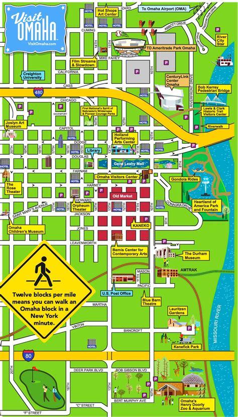 omaha usa map omaha downtown map