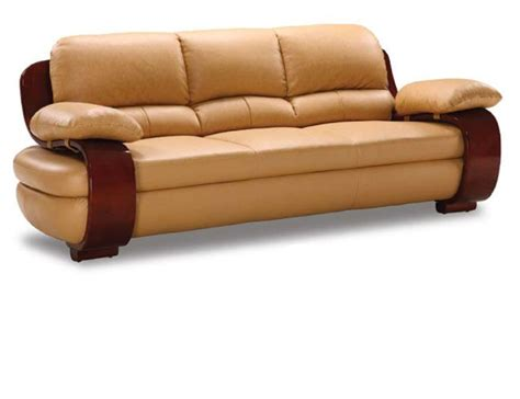 curvaceous wood framed comfortable leather sofa prime