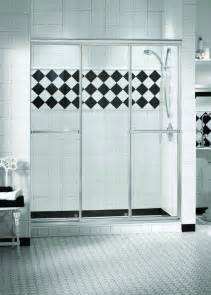 3 panel shower doors 36 quot x 69 quot maax plus 3 panel sliding brushed nickel
