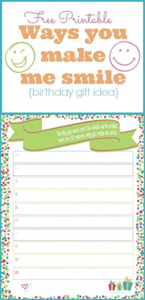 printable birthday cards that you can make thoughtful and free birthday gift ideas