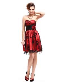 red and black cocktail short prom dresses under 50 dollars