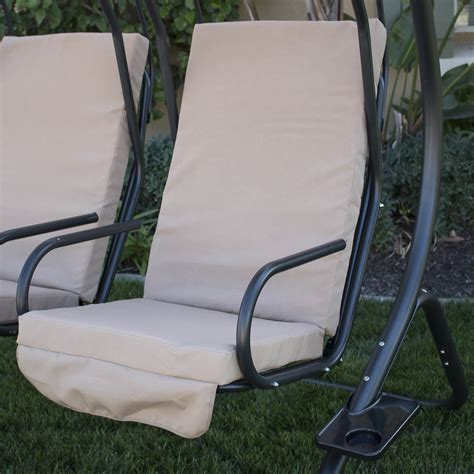 double seat swing new outdoor double swing set 2 person canopy patio