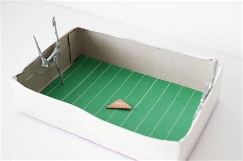 How To Make A Paper Football Field Goal - kid craft 183 kix cereal 183 page 10