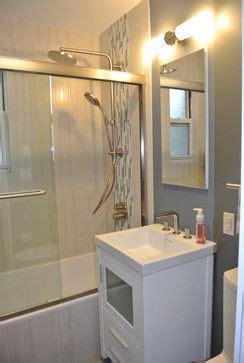 Tile Designs For Bathroom Walls Vertical Accent Tile Light Shower Tile Integrated Sink