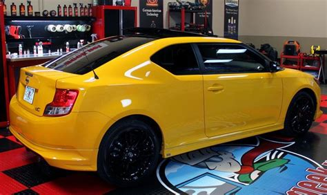 yellow automotive paint pinnacle system with zaino
