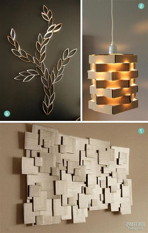 modern diy wall diy modern cardboard pendant light and diy cardboard