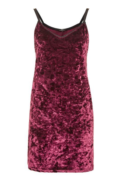 Velvet Slip Dress crushed velvet slip dress topshop