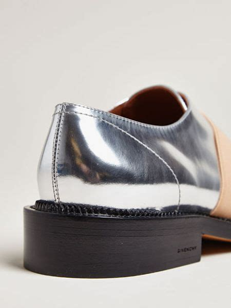 metallic oxford shoes givenchy metallic oxford shoes in silver lyst