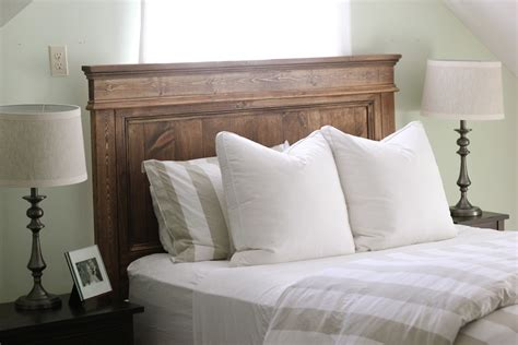 Wood Headboard by Steffens Hobick We Built A Bed Diy Wooden Headboard