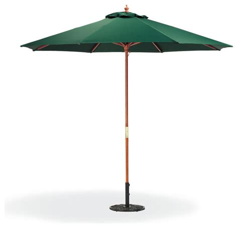 9 Ft Octagon Canvas Market Umbrella Transitional Canvas Patio Umbrella