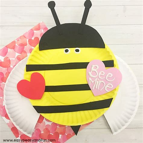 Bumble Bee Paper Plate Craft - bee mine valentines day paper plate craft easy peasy and
