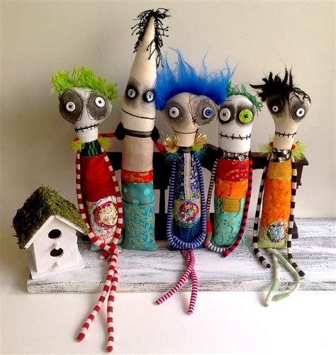 Handmade Paintings - ooak handmade dolls by snotnormal july 2016 by