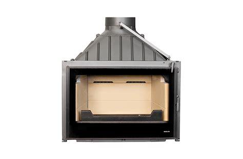 Visio Fireplace by Seguin Visio 8 Plus Black Line Glass Cast Iron Cheminee