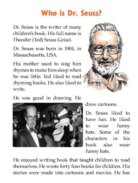 what is biography in english 49 best images about dr seuss read across america on