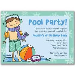 15 winter pool invitations for boys birthday by milelj