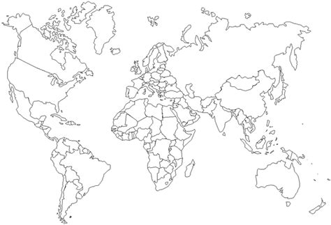 coloring page world map blank map of asia color printing