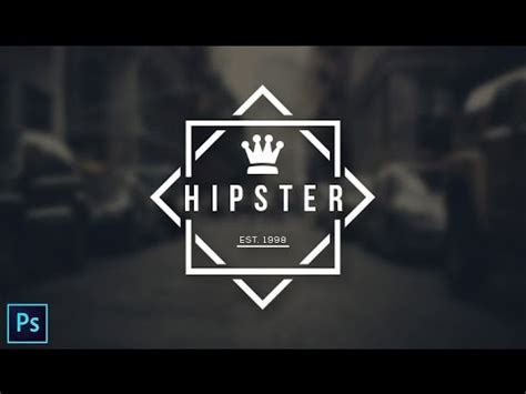 how to make a hipster logo in photoshop youtube hipster logo design photoshop cc tutorial youtube