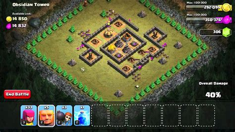 clash of clans single player clash of clans obsidian tower single player gameplay