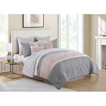 Blush Pink Comforter by Vcny Home Blush Pink Cordelia Pieced 8 Bedding