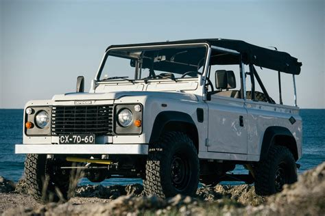 vintage land rover defender auction block 1990 land rover defender 90 hiconsumption
