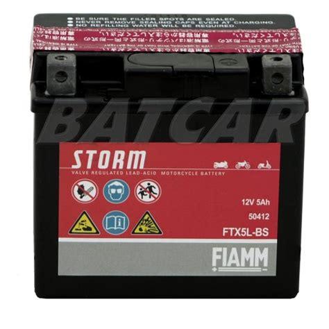 Motorradbatterie 12v 5ah by Fiamm Ftx5l Bs 5ah Motorradbatterie Batcar De Shop
