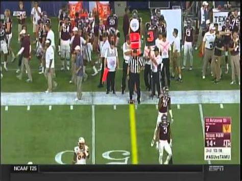 2015 texas am football vs asu college football 2015 texas a m vs arizona state youtube