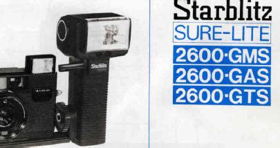 Cobra Auto 250 Flash Unit by Starblitz 2000 Btz Manual