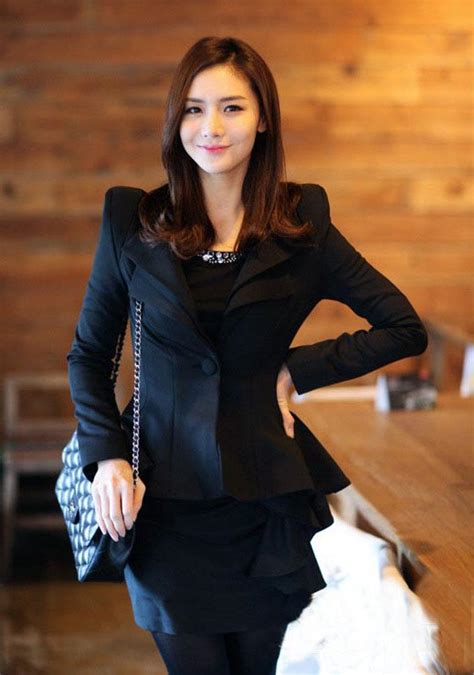 Blazer Model Korea Blazer Kerja Hitam Model Korea Terbaru Myrosefashion