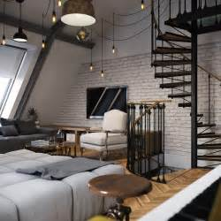 wohnung loft three colored loft apartments with exposed brick walls