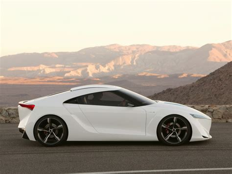 sports cars view futuristic toyota ft hs hybrid sports concept car
