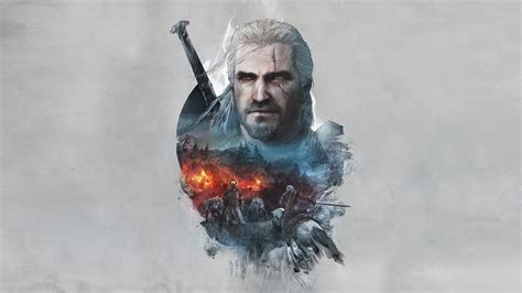wallpaper 4k the witcher the witcher 3 geralt of rivia artwork hd games 4k